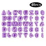 YeeStone Ausstechform Ausstecher 40 Teilig Fondant Ausstechform Buchstaben, Zahlen und Satzzeichen - Geeignet für Anfänger und Profis