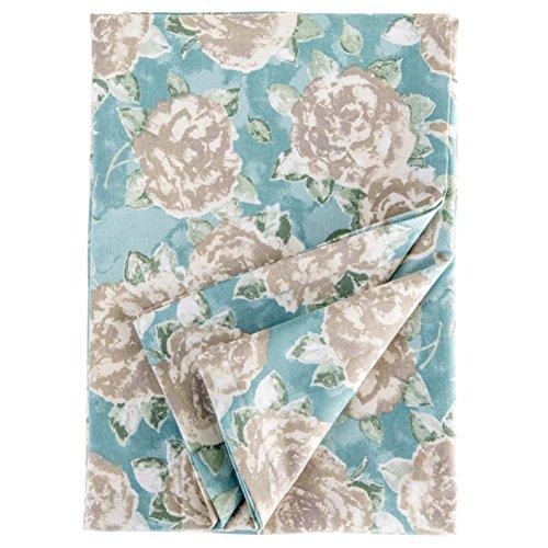 Ragged Rose Nappe rectangulaire en Coton de la Gamme Tessa, Bleu Canard