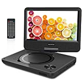 WONNIE 2020 Upgrade 11.5' Portable DVD Player with 9.5 inches 270° Swivel Screen, Best Gift for Kids, Support USB/SD Slot, Direct Play in Formats AVI/MP3/JPEG/RMVB (11.5, Black)