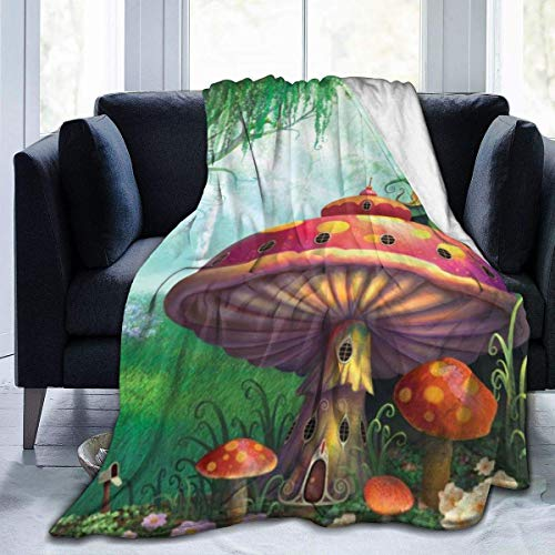 JONINOT Encantado Evening Forest Blanket Colcha de Microfibra Manta Colcha de Cama 80 'x60'