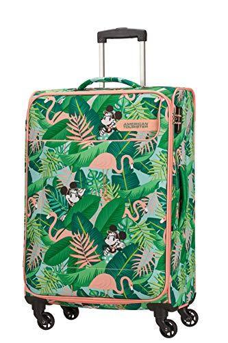American Tourister Funshine Disney Spinner M Suitcase, 66 cm, 63.5 Litre, Multicolour (Minnie Miami Palms)