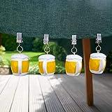 SHACAMO 4er Set Tischtuchbeschwerer Tischdeckenhalter Tischdeckengewichte (Bier) - 2