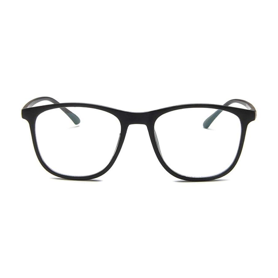 マウント佐賀上陸韓国の学生のプレーンメガネの男性と女性のファッションメガネフレーム近視メガネフレームファッショナブルなシンプルなメガネ-マットブラック