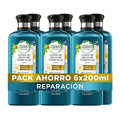 Herbal Essences bio:renew Aceite De Argán De Marruecos Reparación Champú, En Colaboración Con El Real Jardín Botánico De Kewn 6 x 250ml