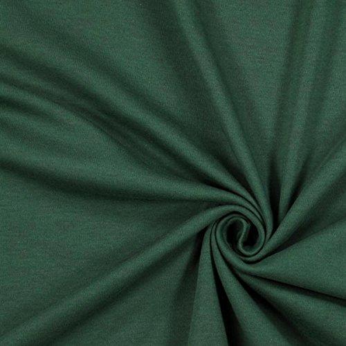 Fabulous Fabrics Jersey dunkelgrün, Uni, 155cm breit – zum Nähen von Oberkleidung, Hosen und T-Shirts - Meterware erhältlich ab 0,5 m