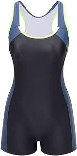 One Piece Swimsuit Boyleg Sport Swimwear for Women