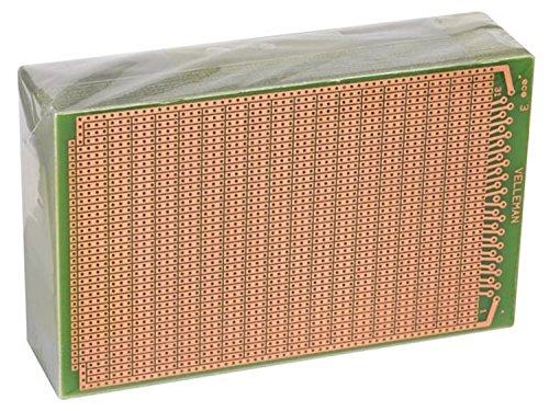 VELLEMAN - B/ECS3   Europlatine-3 Löcher-100 X 160 Mm-Fr4 (25 Stück/Blister) 140348