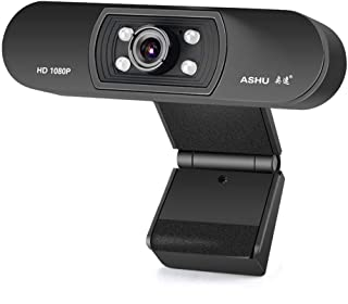 Webcam 1080P HD Web Camera with Built-in Microphone USB Plug&Play Webcam Widescreen Video