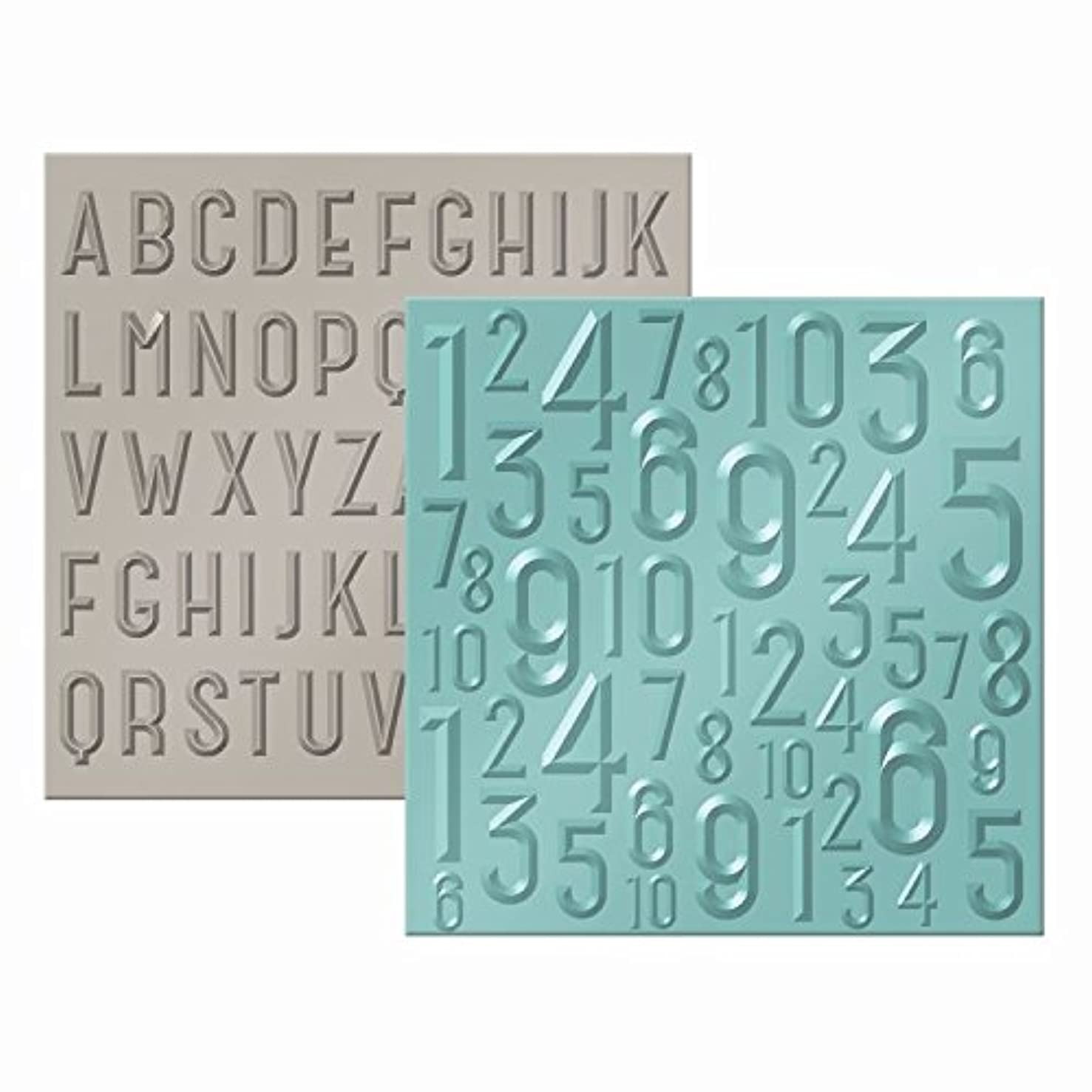 American Crafts 662690 We R Memory Keepers Next Level Embossing Folder, ABC 123