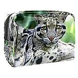 Neceseres de Viaje Leopardo Animal Portable Make Up Bags Neceser de Práctico Bolsa de Lavado de Baño Viajes Vacaciones Fiesta Elementos Esenciales 18.5x7.5x13cm