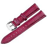 Bracelet de Montre de Remplacement 16mm avec des Bracelets de Montre en Cuir en Acier...