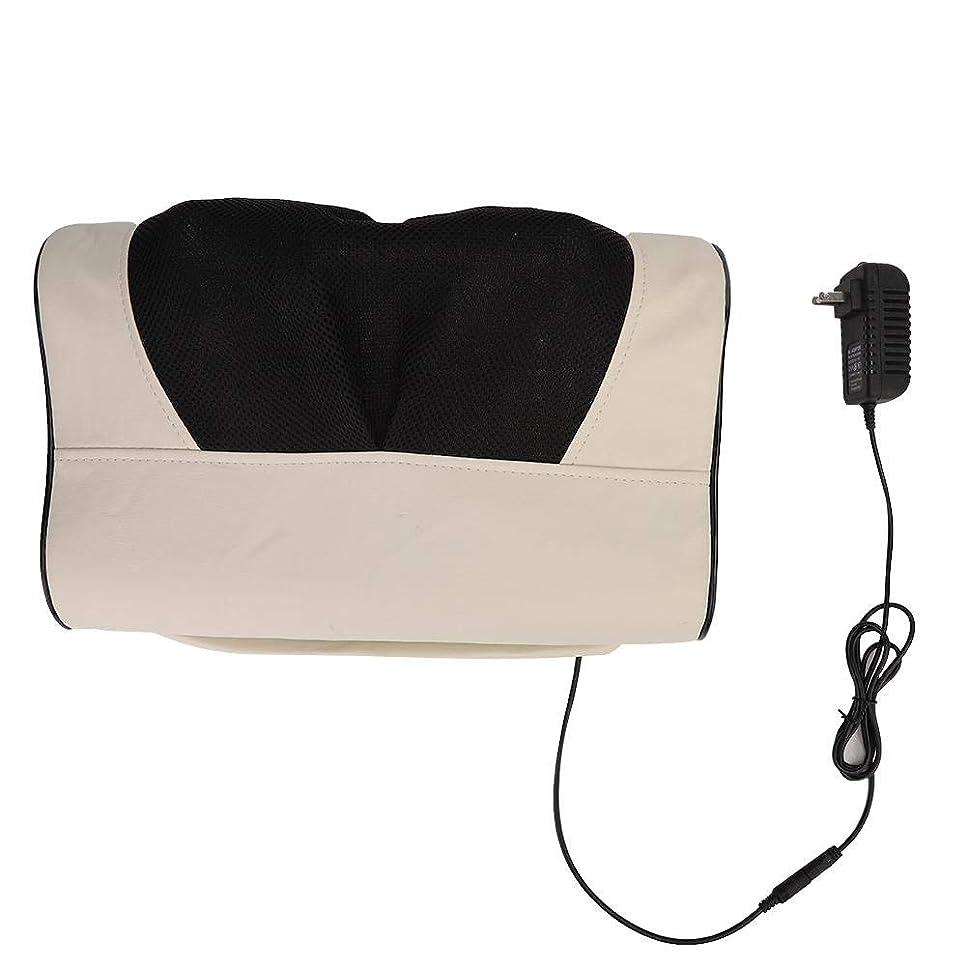 ぴかぴか今晩リンケージマッサージ枕、多機能頸椎ネックショルダーマッサージャー電動マッサージ枕