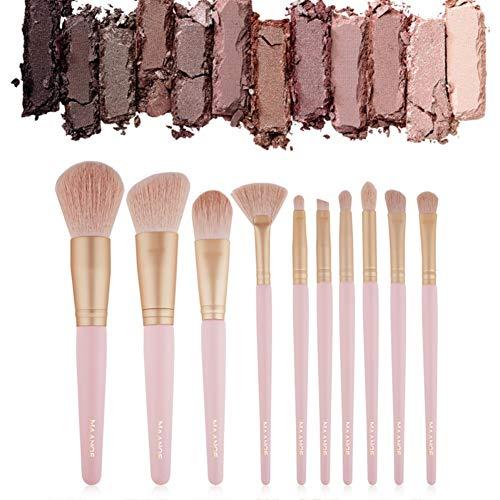 Cutelove 10Pcs Pink Professional Makeup Brush Set