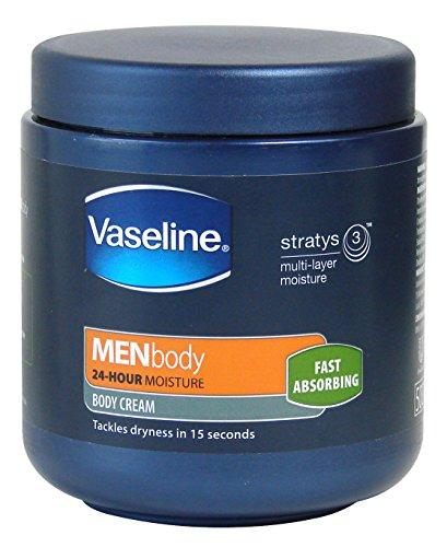 Vaseline Men Body Cream 24 Hour Moisture Fast Absorbing 500ml