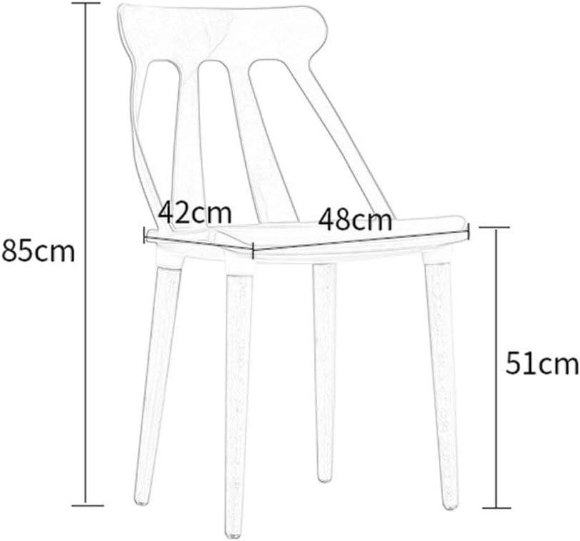 TGhosts Chaise moderne, simplicité d'assemblage des pattes de la chaise moderne, salle d'étude de restaurant en bois massif, bois (Color : Green) Black