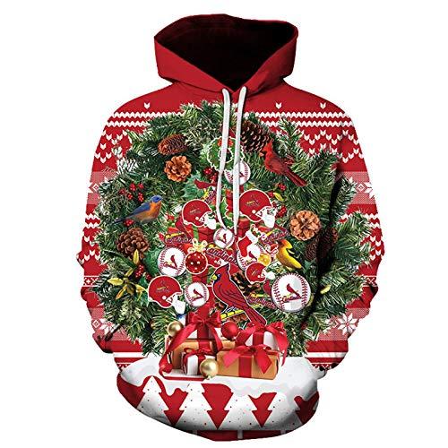 WLZQ Otoño E Invierno Suéter De Navidad para Hombre Pullover Suéter De Pareja De Navidad Sudadera con...