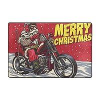 ラグ 洗える フランネル カーペット ラグマット ふわふわ肌触り 1年中使えるタイプ 床暖房対応 滑り止め付き 120cmx180cm メリークリスマス