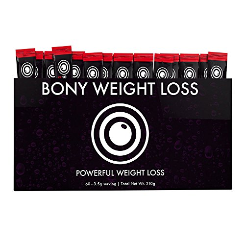 Bony Weight Loss: Ruby Lemonade Flavor 60 Count Sticks with Garcinia Cambogia, Green Coffee Bean, Noni & Yacon - Diet Drink for Men and Women - Carb Blocker & Appetite Suppressant to Help Weight Loss