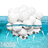 KITEOAGE Pool Filter Balls Media Filters Environmental Protection Filter Media for Swimming Pool Aquarium Filters Alternative to Sand(3.1 Lbs Filter Balls is Equivalent to 100 Lbs Filter Sand)