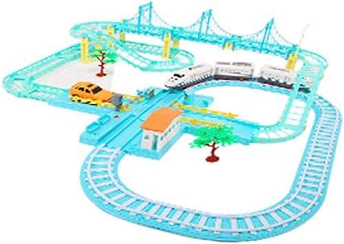 LINGLING-Verfolgen Kinder Orbital Express Command Station Spielzeugauto Blau Electric Slide 3 Jahre Alter Junge Geschenk (Farbe   D)