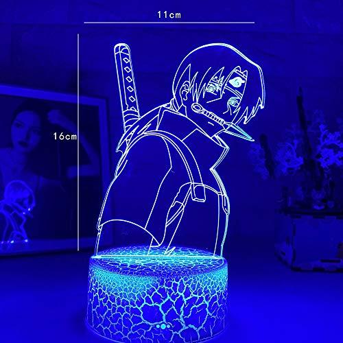 La más nueva lámpara 3d Anime Uchiha Itachi luz para decoración de dormitorio niño chico regalo de cumpleaños lámpara Sasuke fábrica de luz Dropshipping