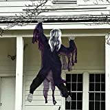 Renbuzhu Halloween Decorations - Scary Climbing Zombie for Wall, Yard, Porch, Haunted House Outdoor Indoor Party Decor Supplies Creepy Fun Prop