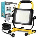 ExcelsiorLight – Foco LED de alta calidad [60 W] – Luz de trabajo impermeable IP65 [6000 LM/5000 K] – Lámpara para obras regulable – Con mando a distancia