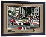 SGH SERVICES NEU! Gerahmtes Poster, Ayrton Senna Formel 1