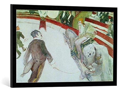 Kunst für Alle Cuadro con Marco: Henri de Toulouse-Lautrec At The Circus Fernando The Ringmaster 1887-88