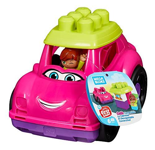 Mega Bloks GCX11 - Kleines Fahrzeug Cabrio mit Bausteine und Aufbewahrung pink, Spielzeug ab 1 Jahr