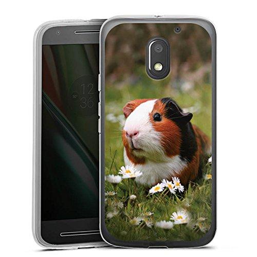 DeinDesign Silikon Hülle kompatibel mit Lenovo Moto E3 Hülle transparent Handyhülle Hamster Tiere Meerschweinchen