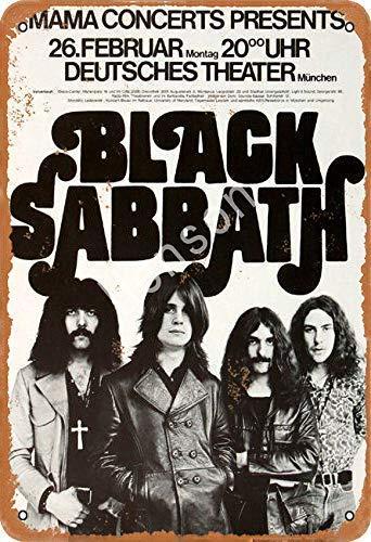 Fleeting Art Studio Black Sabbath - Letrero de lata para decoración de pared, diseño vintage, nunca se oxida, para hoteles y todo tipo de personajes individuales o decoración del hogar, 20 x 30 cm
