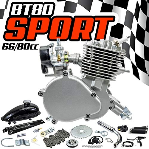 Zeda New BT Sport Complete 80cc Motorized Bicycle Engine Kit - 44 Tooth - Motorized Gas Bike
