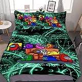 QWAS Juego de ropa de cama, funda de edredón, Crew y juego de 3 piezas para fantasmas interiores, 100% microfibra, impresión digital 3D (A1, 135 x 200 cm + 80 x 80 cm x 2)