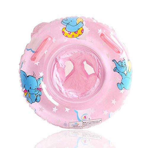 UCLEVER Salvagente Gonfiabile per Bambini Neonati Anello di Nuotata 6-36 Mesi Elefante (Rosa)