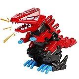 Dinosaurier Spielzeug mit Wandelnder Brüllender Montage Dino Roboter Spielzeug Jungen Tyrannosaurus Rex Dinosaurier Figuren Kinderspiele Geschenke für Kinder Spielzeug 3 4 5 6 Jahre Junge Mädchen