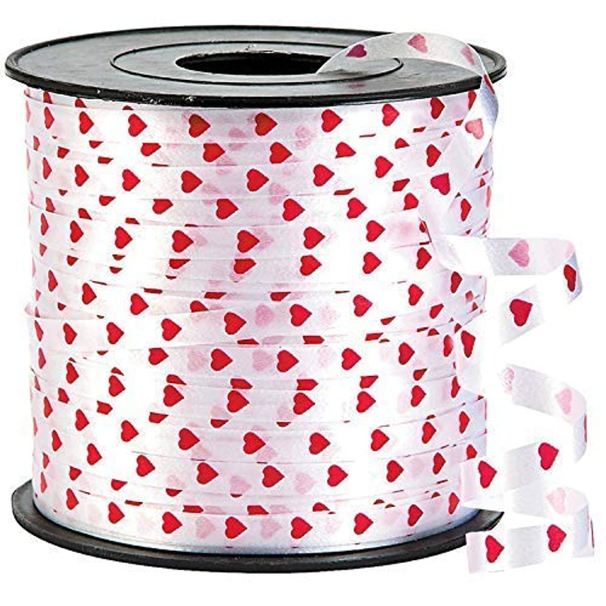 Heart Valentines Curling Gift Ribbon – 100 Yard | Valentines Day Decorations for Home, Outdoor, Office, Window, Classroom | Perfect for Balloons, Gift Wrap, Birthday Party Supplies, Crafts DIY
