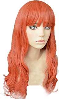 Celica Wig Cosplay Fire Emblem Echoes Costume Curly Orange Hair Game Accessories Props