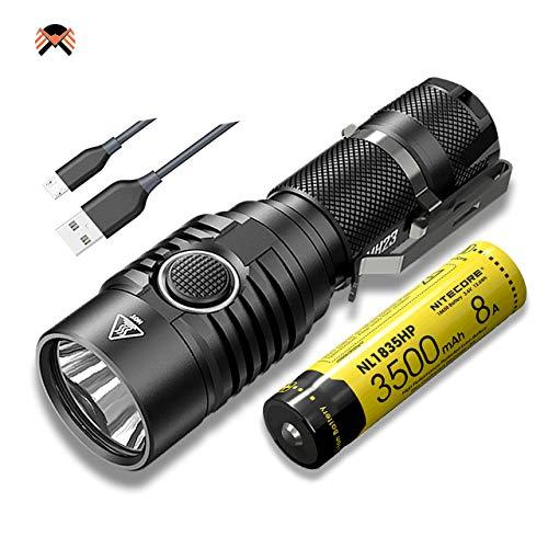 Nitecore MH23 1800 Lumen Aufladbare LED Taschenlampe IPX8 Aktualisierung von Nitecore MH20 Taschenlampen [ Mit 3500mAh Akku NL1835HP ]