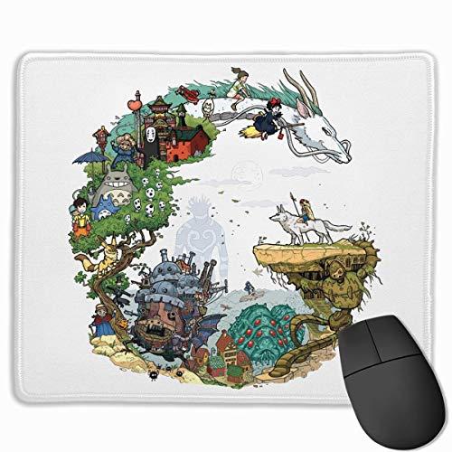 Mausmatte mit Designs Studio Ghibli Mousepad Gaming Mauspad Naturkautschuk