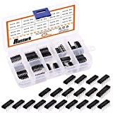Rustark 40Pcs 20 Types 74HCxx and 74LSxx Series Logic IC Assortment Kit, High-Speed Low-PowerIntegrated Circuit Chip with Store Case