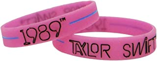 """Taylor Swift Official 1989"""" - Style Rubber Bracelet Choose from Pink or Black"""