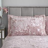 Catherine Lansfield Crushed Velvet Pillowsham Pair Blush