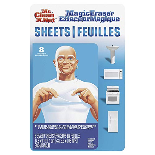 Mr. Clean Magic Eraser Cleaning Thin Sheets, 8 Sheets (Pack of 2)