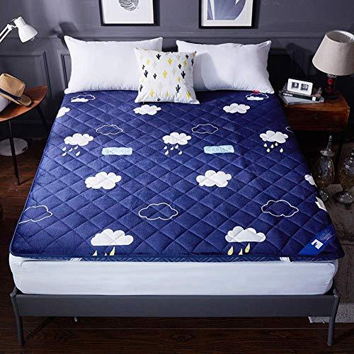 ZLJ L Almohadilla de colchón de Cama de Franela Espesa futón japonés Tradicional Dormitorio de Estudiantes Alfombra de Esponja colchón de Tatami hipoalergénico Acolchado-b 120x190x5cm
