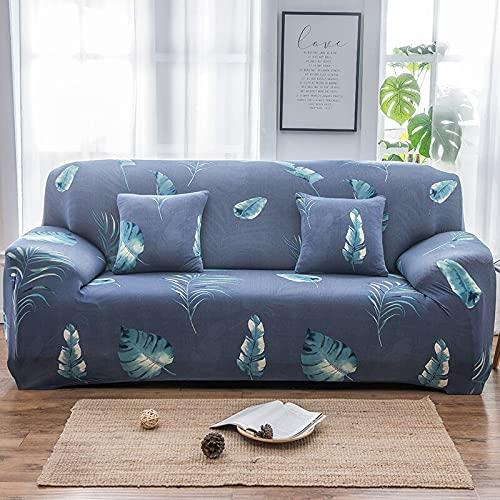 PPOS Toalla de sofá Antideslizante con Funda de Esquina en Forma de L para Sala de Estar, retráctil, Puede acomodar D7 3 Asientos 190-230cm-1pc