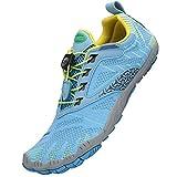 SAGUARO Hombre Mujer Descalzo Zapatos de Playa Zapatillas Minimalista Secado Rápido Calzado de Natación Barefoot Zapatos de Agua Antideslizante, Azul 37