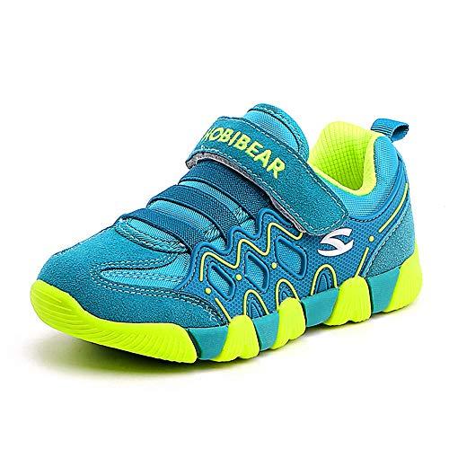 DUORO Unisex-Kinder Sneaker Jungen Laufschuhe Mädchen Sport Outdoor Kinderschuhe Turnschuhe (26 EU, Grün)