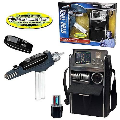 Diamond Select - Star Trek TOS pack White Handle Phaser & Medical Tricorder EE Ex