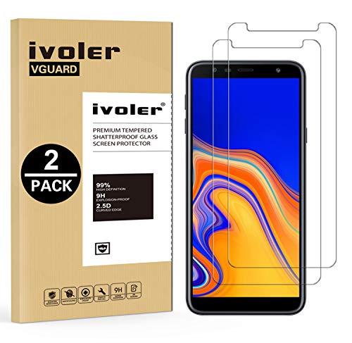 iVoler [2 Pack] Vetro Temperato per Samsung Galaxy A7 2018 / J4 Plus 2018 / J6 Plus 2018, Pellicola Protettiva Protezione per Schermo per Samsung A7 2018 / J4+ 2018 / J6+ 2018